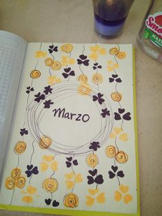 Portada Marzo 2018 bullet journal - bujo cover month March