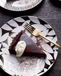 Bittersweet-Chocolate Tart Recipe from Alain Ducasse's Manhattan restaurant Benoit