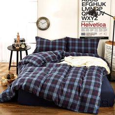 Trendy Hairstyles For Women Full Duvet Cover, Comforter Cover, Bed Duvet Covers, Duvet Cover Sets, Pillow Shams, Flannel Duvet Cover, Blue Bedding, Blue Plaid, Plaid Flannel