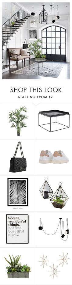 """Plants everywhere make you feel alive"" by dantevandenabeele ❤ liked on Polyvore featuring interior, interiors, interior design, home, home decor, interior decorating, Nearly Natural, HAY, Chanel and Étoile Isabel Marant"