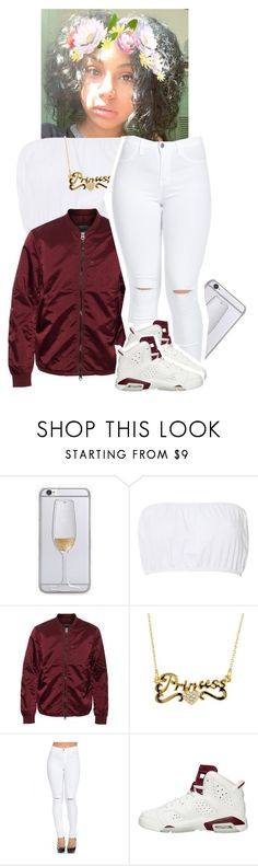 """""""Untitled #381"""" by xtiairax ❤ liked on Polyvore featuring Glamorous, Acne Studios and NIKE"""