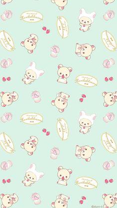 Rilakkuma Wallpaper, Sanrio Wallpaper, Kawaii Wallpaper, Cartoon Wallpaper, Hello Kitty Backgrounds, Cute Backgrounds, Cute Wallpapers, Wallpaper Backgrounds, Screen Wallpaper