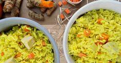 Fabulosa receta para Arroz basmati con cúrcuma y leche de coco. Una receta saludable y deliciosa que enamorará a todos los fans de la comida asiática.