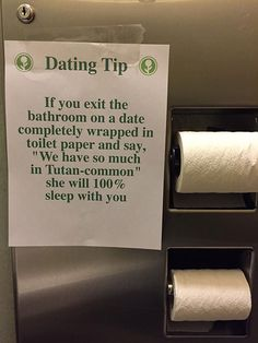 Dating Tip In The Bathroom