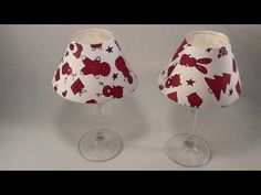 Come riciclare la carta da regalo e fare paralumi fai da te con calici di vetro - YouTube