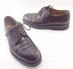 Bruno Magli Mens 10M Renato Brown Pebbled Leather Oxfords Shoes Made in Italy #BrunoMagli #Oxfords