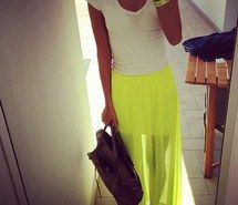 Inspiring picture neon, skirt, fashion, style, yellow. Resolution: 400x400. Find the picture to your taste!