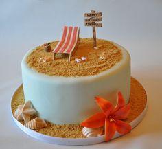 beach theme birthday cake | In: Beach theme birthday cake in album: Birthday Cakes
