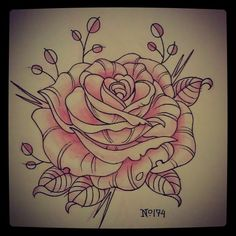 Tattoo Inspiration, rose drawing