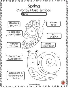 Music worksheets! This set contains 26 SPRING Music Theory Coloring Activities! Pitch, music dynamics, music symbols and more! Fun and educational for your music class! ♫ CLICK through to read more or RE-PIN for later! ♫