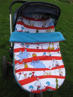 Universal footmuff/cosytoes Dr Seuss design  fit by CraftyKooka, $65.00