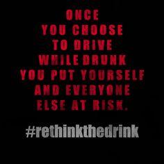 Don't drive drunk. PERIOD. #rethinkthedrink