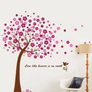 Product Details Removable Wall Stickers, Flower Wall Stickers, Wall Stickers Murals, Wall Decals, Sticker Mural, Wall Art, Floral Nursery, Floral Wall, Pink Cherry Blossom Tree