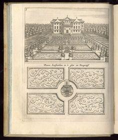 Antique book illustration for gardening design.