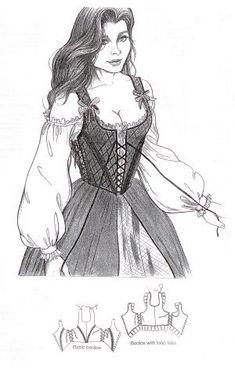 Renaissance Tops Sewing Pattern UNCUT McCalls M4696 Sizes