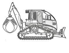 bobcat skid steer loader construction coloring page you