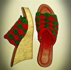 Crochet Shoes #Fireworks $50