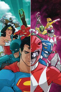 Justice League & Power Rangers