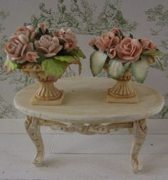 how to: roses in urns dollhouse miniatures