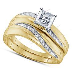 2.53Carat Princess Diamond 925 Silver Tapered ShankStyle Bridal Wedding Ring Set #affordablebridaljewelry #EngagementWeddingAnniversary
