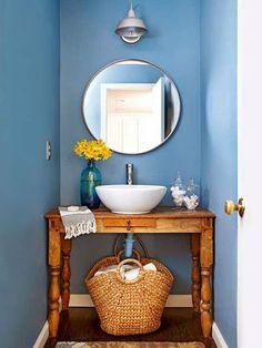O lavabinho mais fofo do mundo (sou exagerada, mas é verdade rs) #lavabo blog de decoração brasileiro, blog achados de decoração