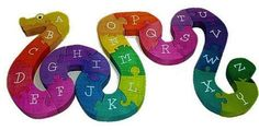 alphabet snake puzzle $32.50 (free ship w/ $65 - see color wheel puzzle @ 33.50