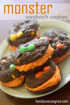 Monster Chocolate Sandwich Cookies for the #McCormickBakeSale