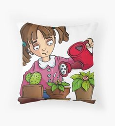 'Frog' Throw Pillow by
