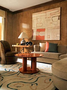 Modern • Chester Jones - A drawing room, Chelsea, rug by Sandy Jones