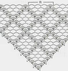 Best 12 crochet font for the cloth rainbow sister (Iris Pollak - SkillOf . - Best 12 crochet font for the cloth rainbow sister (Iris Pollak – SkillOf … – - häkeln häkelschrift Crochet Shawl Diagram, Crochet Chart, Crochet Motif, Crochet Lace, Crochet Stitches, Crochet Patterns, Crochet Summer, Crochet Ideas, Free Crochet
