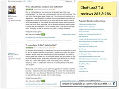 """CHef LeeZ T A review # 285 """"Fun, educational, hands-on, authentic!"""" Clipped from www.tripadvisor.com"""
