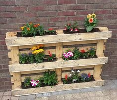 Flower box pallets