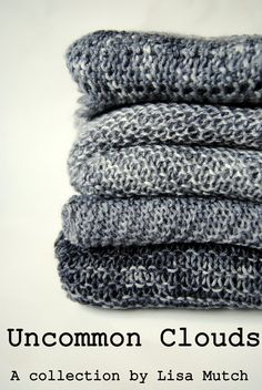 uncommon clouds:  4 pdf knitting patterns:  arcus cowl + nimbus shawl + cirriform scarf + altostratus cardigan