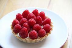 Vanilla Cream Tart with Rasberries