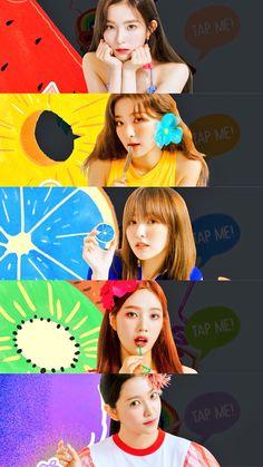 Fun Things — 레드벨벳(Red velvet) - 'Summer Magic' Lock/Home. Wendy Red Velvet, Red Velvet Joy, Red Velvet Irene, Seulgi, Rv Wallpaper, Velvet Wallpaper, Park Sooyoung, Snsd, Kpop Girl Groups