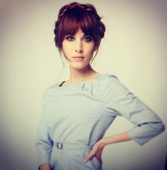 Alexa Chung LOreal Hair Campaign Is that you - My Hairstyle, Hairstyles With Bangs, Pretty Hairstyles, Bangs Updo, Summer Hairstyles, Full Fringe Hairstyles, Celebrity Hairstyles, Alexa Chung Hair, Alexa Chung Fringe