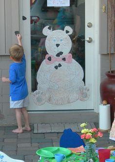 Pin the nose on the Teddy Bear game