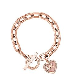 Michael Kors Valentines Day Heart Toggle Bracelet #Dillards