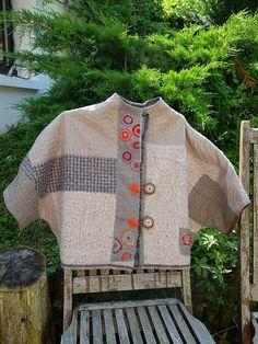 Patchwork Jacket Pattern Vintage New Ideas Motif Vintage, Vintage Patterns, Sewing Patterns, Vintage Ideas, Sewing Clothes, Diy Clothes, Blouse Batik, Japanese Sewing, Jacket Pattern