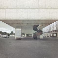 Coach Station at the Sihlquai, Jonathan Banz - ATLAS OF PLACES