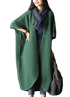 Minibee Women's Jacquard Dolman Sleeve Cardigan with Big Pockets Green Minibee http://www.amazon.com/dp/B01541K12G/ref=cm_sw_r_pi_dp_mi47vb09HJ1H8