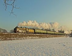 /by alts1985 #flickr #steam #engine #snow