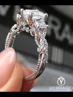 How Are Vintage Diamond Engagement Rings Not The Same As Modern Rings? If you're deciding from a vintage or modern diamond engagement ring, there's a great deal to consider. Verragio Engagement Rings, Popular Engagement Rings, Princess Cut Engagement Rings, Beautiful Engagement Rings, Designer Engagement Rings, Halo Engagement, Princess Wedding Rings, Beautiful Wedding Rings, Wedding Rings Vintage