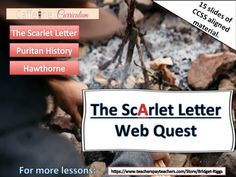 an analysis of hawthornes background influence in the scarlet letter by nathaniel hawthorne The scarlet letter study guide contains a biography of nathaniel hawthorne, literature essays, a complete e-text, quiz questions, major themes, characters, and a full summary and analysis.