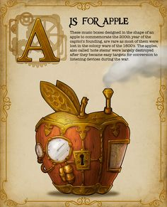 Steampunk Alphabet Book - The ABCs...Steampunked! by Nat Iwata — Kickstarter