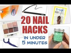 20 NAIL HACKS....in under 5 minutes! - YouTube