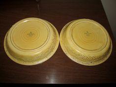 Homer Laughlin Oven Serve Ceramic Yellow Pie Plates