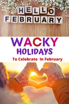 February Wacky holidays are some of my favorite to celebrate. Wait until you see these 28 days of silly holidays. Your family and friends will love celebrating all of these silly days with you. February Days To Celebrate, February Holidays, National Drink Wine Day, Silly Holidays, Love Your Pet Day, Changing Your Name, Pizza Day, Cake Day, Friends Day