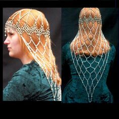 Medieval Chainmaile Chaplet - renaissance chainmail headpiece
