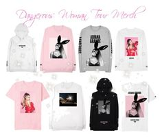 """""""♡ Dangerous Woman Tour Merch pt 1 ♡"""" by kaylalovesowls ❤ liked on Polyvore"""